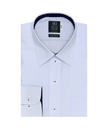 BRICKHOUSE/標準体 長袖 ワイシャツ 形態安定 レギュラー 白×サックスストライプ/503374222