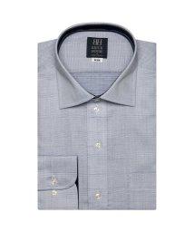 BRICKHOUSE/ワイシャツ 長袖 形態安定 ワイド 白×ブルー刺子調柄 標準体/503374225