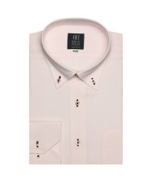 BRICKHOUSE/ワイシャツ 長袖 形態安定 ドゥエボットーニボタンダウン ピンク×白 標準体/503374234
