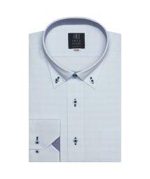 BRICKHOUSE/ワイシャツ 長袖 形態安定 ドゥエボットーニボタンダウン 白×サックス 標準体/503374235