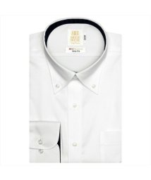 BRICKHOUSE/ワイシャツ 長袖 形態安定 ボタンダウン 白×織柄 スリム/503374246