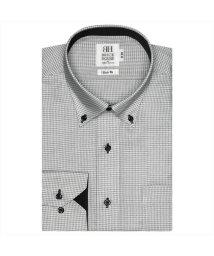 BRICKHOUSE/ワイシャツ 長袖 形態安定 ドゥエボットーニボタンダウン 白×グレー スリム/503374250