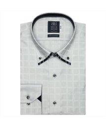 BRICKHOUSE/ワイシャツ 長袖 形態安定 マイター ドゥエボットーニボタンダウン グレー 標準体/503374252