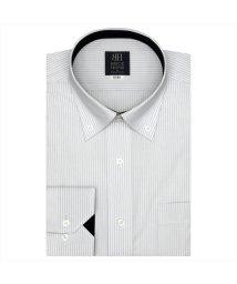 BRICKHOUSE/ワイシャツ 長袖 形態安定 ドゥエボットーニボタンダウン 白×グレー 標準体/503374254
