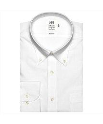 BRICKHOUSE/ワイシャツ 長袖 形態安定 ボタンダウン 白×織柄 スリム/503374255