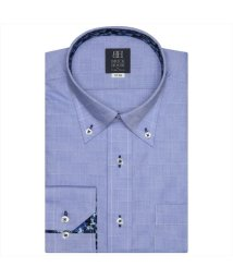 BRICKHOUSE/ディズニー ワイシャツ 長袖 形態安定 ボタンダウン ブルー×市松格子 標準体/503374261