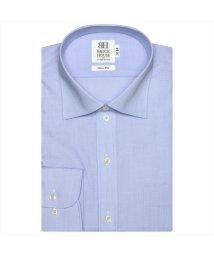 BRICKHOUSE/ワイシャツ 長袖 形態安定 ワイド サックス×無地調 スリム/503374262