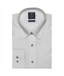 BRICKHOUSE/ワイシャツ 長袖 形態安定 スナップダウン グレー×市松格子織柄 標準体/503374264