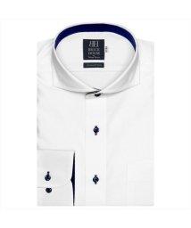 BRICKHOUSE/ワイシャツ 長袖 形態安定 ホリゾンタル ワイド 白×織柄 標準体/503374265