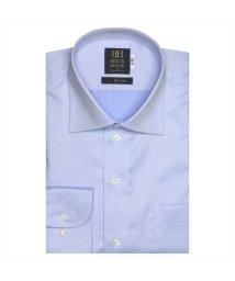 BRICKHOUSE/ワイシャツ 長袖 形態安定 ワイド サックス×織柄 標準体/503374267