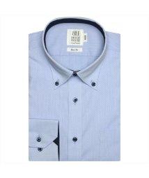 BRICKHOUSE/ワイシャツ 長袖 形態安定 ドゥエボットーニボタンダウン ブルー スリム/503374270