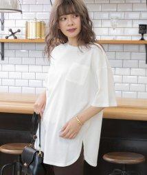 ad thie/裾ラウンドポケット付きTシャツ/503375457