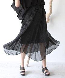 REAL CUBE/アシメプリーツデザインフレアスカート/503375577