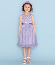 KUMIKYOKU KIDS/【120-14cm】ボーダーレースドレス ワンピース/503376183
