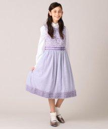 KUMIKYOKU KIDS/【150-160cm】ボーダーレースドレス ワンピース/503376184