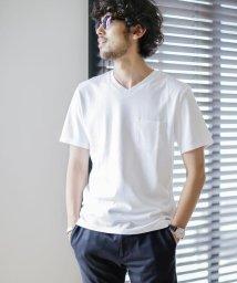 nano・universe/《WEB限定》《汗染み防止》Anti Soaked ヘビーVネックTシャツ/503137583