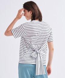 LANVIN en Bleu/バックウエストリボンTシャツ/503275253