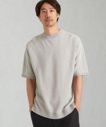 green label relaxing/CSM ウォッシャブル ガーター クルーネック Tシャツ カットソー < 機能性 / 手洗い可能 >/503317511