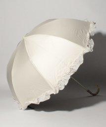 pink trick/完全遮光 晴雨兼用 2段折りたたみ傘 フリル 遮光率100% 遮蔽率100% 1級遮光 遮熱 軽量 UVカットオフホワイト×フリル /503364491