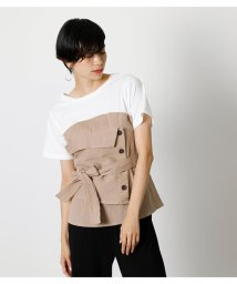 AZUL by moussy/BUTTON COMBINATION TOP/503376336