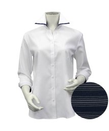 BRICKHOUSE/シャツ 七分袖 形態安定 マイター スキッパー衿 透け防止 レディース ウィメンズ/503376668
