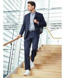 TAKA-Q/トラベスト/TRABEST コーディネート2パンツ レギュラーフィット2釦スーツ 紺デニムルック/503138344