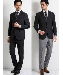 TAKA-Q/ウール混ドッツ コーディネート2パンツ レギュラーフィット2釦スーツ グレー組織/503138352