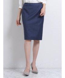 TAKA-Q/マルゾット/MARZOTTO ウール セットアップ タイトスカート 青/503138996