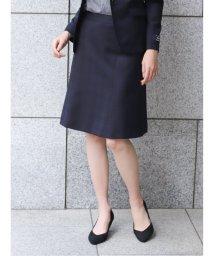 TAKA-Q/マルゾット/MARZOTTO ウール セットアップ フレアースカート 紺チェック/503138997