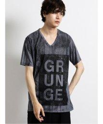 semanticdesign/シェラック/SHELLAC グランジプリント Vネック半袖Tシャツ/503246457