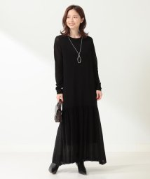 Demi-Luxe BEAMS/Demi-Luxe BEAMS / ペプラムヘム ニットワンピース/503327599