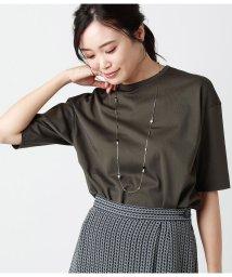 NEWYORKER/コットントリアセテート 秋色5分袖Tシャツ/503354133