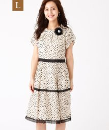 TO BE CHIC(L SIZE)/【L】ドットプリントワンピース/503354224