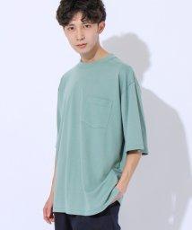 coen/ポンチビックシルエットポケットTシャツ/503371527