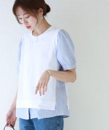BLUEEAST/ストライプブラウスドッキングTシャツ/503377796