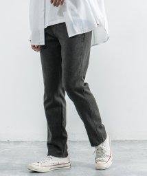 Rocky Monroe/スラックス メンズ トラウザー ウール ビジネス カジュアル 暖かい ノータック テーパード スリム グレー BIG SMITH ビッグスミス BSM-537W/503380062