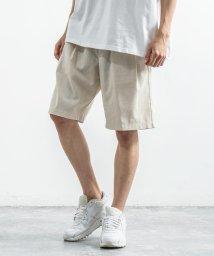 Rocky Monroe/ショートパンツ メンズ ハーフ ショーツ 短 麻 レーヨン リネン リラックス イージーウエスト ワイド 無地 シンプル カジュアル キレイめ 通気性 9577/503380066