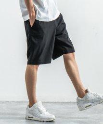 Rocky Monroe/ショートパンツ メンズ 短パン ハーフ イージー 綿麻 コットンリネン 無地 ウエストゴム ウエスト調整 カジュアル ストリート 黒 紺 9578/503380067