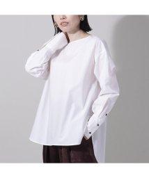 EUCLAID/バックボタンノーカラーシャツ/503380098