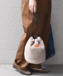 SHIPS any WOMENS/《予約》【別注】UNIVERSAL OVERALL:ボア巾着バッグ/503380481