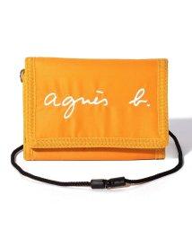 agnes b. ENFANT/GL11 E PORTEFEUILLE ロゴ刺繍 パスケース/財布/502949743