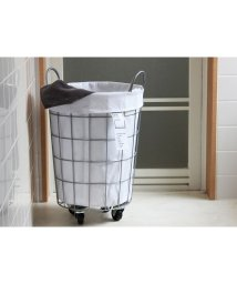BRID/WIRE ARTS & PRO LAUNDRY ROUND BASKET with CASTER 33L/503357335