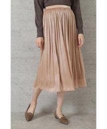 NATURAL BEAUTY BASIC/[洗える]シャイニーシアーギャザースカート/503381237