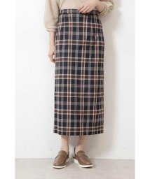 NATURAL BEAUTY BASIC/チェックナロースカート/503381244