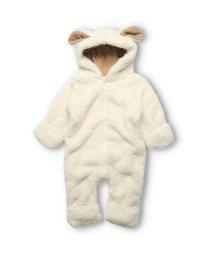Kids Zoo/【子供服】 kids zoo (キッズズー) ひつじ・ねこ・うさぎ・くまボアカバーオール 70cm,80cm W62700/503381514