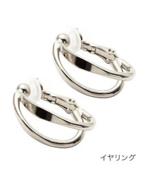 cream dot/交わるシェイプダブルラインのフープイヤリング/ピアス/503381621