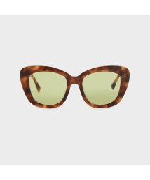 CHARLES & KEITH/【2020 SUMMER】アセテート バタフライサングラス / Acetate Butterfly Sunglasses (T. Shell)/503381884