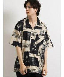 semanticdesign/エステル総柄転写オープンカラー半袖BIGシャツ/503382223