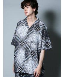 semanticdesign/ペイズリー柄 オープンカラー半袖BIGシャツ/503382224