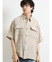 semanticdesign/綿麻フラップポケット レギュラーカラー半袖シャツ/503382243